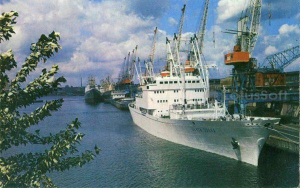 Калинград. В морском торговом порту, 1975 год