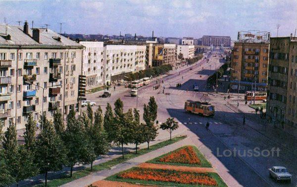 Калинград. Ленинский проспект, 1975 год