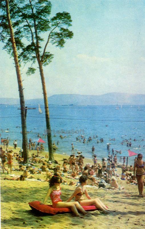Тольятти. Городской пляж, 1972 год