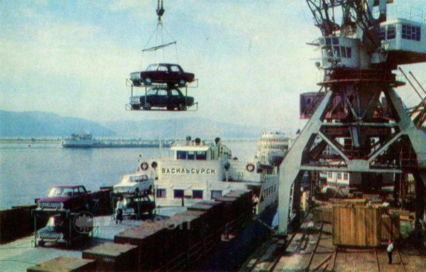 Тольятти. Речной порт, 1972 год