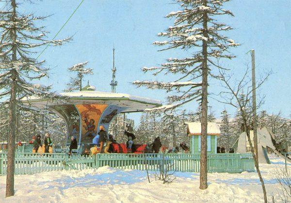 Магадан. В парке культуры и отдыха, 1980 год