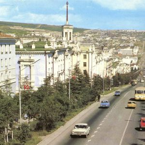 Magadan. Prospect them. IN AND. Lenin, in 1987
