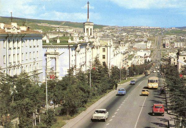 Магадан. Проспект им. В.И. Ленина, 1987 год