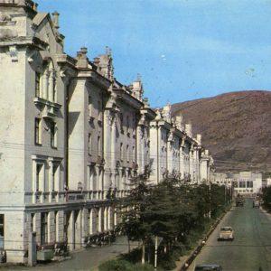 Magadan. Street Port, 1978