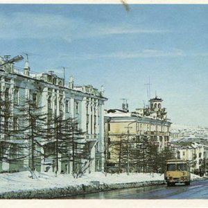 Magadan. Lenin Street, 1986
