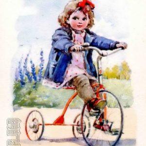 Велосипедистка, 1955 год