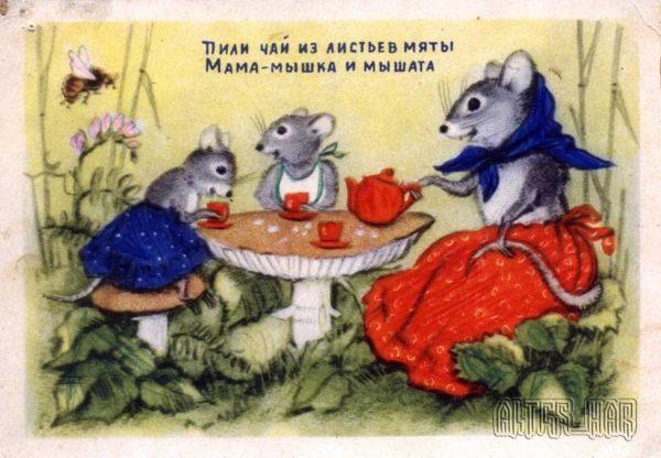 Детские открытки, 1954 год