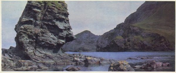 Rocks off the coast of the Transfiguration of the bay on the island of Bronze, 1975