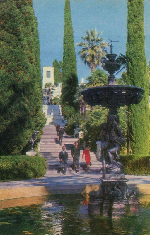 Sochi. The main staircase in the Arboretum, 1972