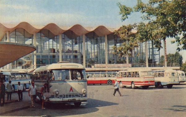 Sochi. The bus station, 1972