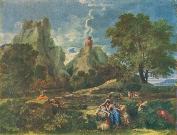 Landscape with polfemom. Poussin, 1957