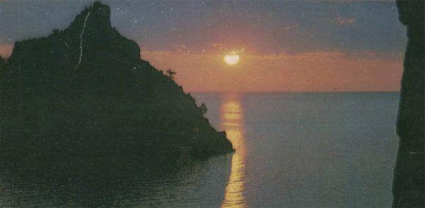 Sunset on the lake, 1978