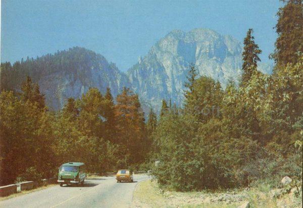 Дорога на озеро Рица, 1989 год