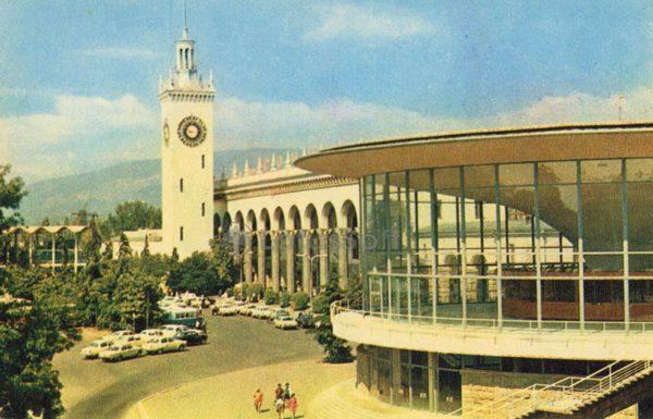 Sochi. Railway station, 1974