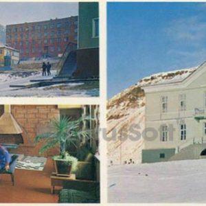 Одна из улиц Баренцбурга. В холле гостиницы поселка. Консульство СССР на Шпицбергене, 1978 год