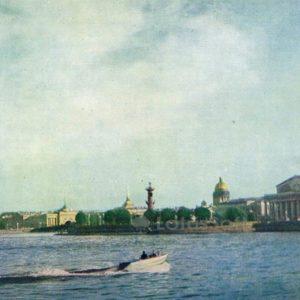 Нева. Стрелка Васильевского острова. Ленинград, 1962 год