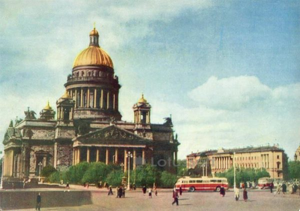 """St. Isaac's Square. """"Isaac's Cathedral"""" museum. Leningrad, 1962"""