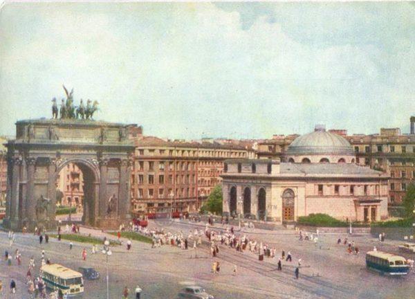 Strikes area. Narva Gate. Leningrad, 1962