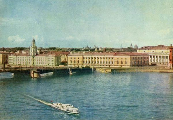Neva. Vasilevsky Island. Leningrad, 1962