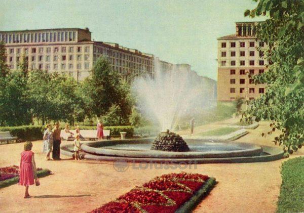 Square Nevsky District Council. Leningrad, 1962