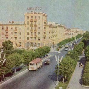 The street of the republic. Tyumen, 1969