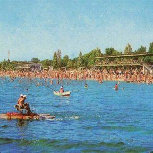 Beach. Yevpatoriya, 1976