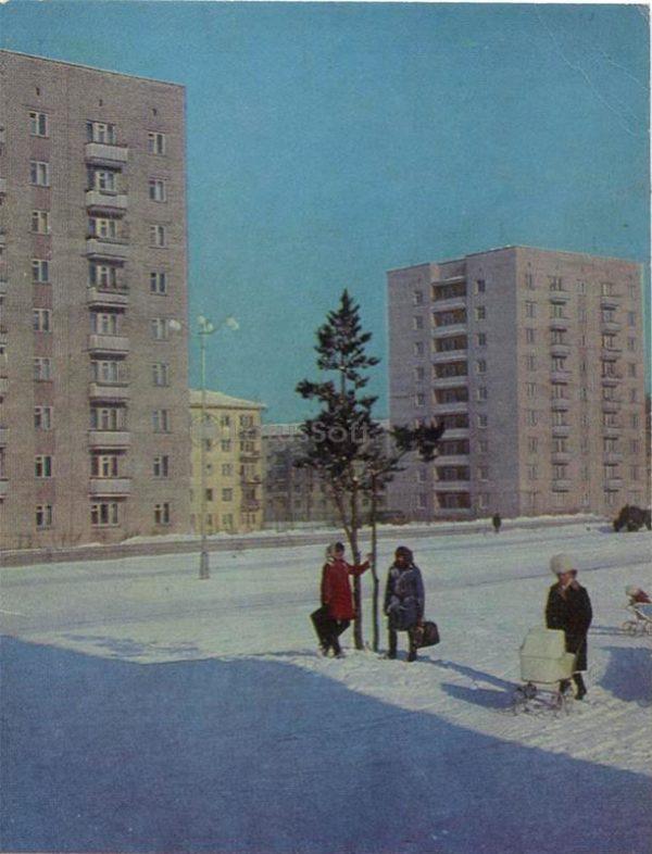 Первые высотные. Ангарск, 1974 год
