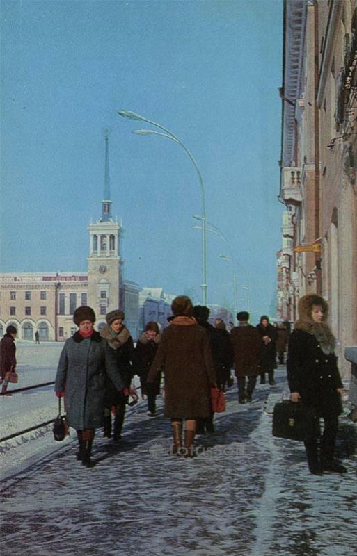 Проспект К. Маркса. Ангарск, 1974 год