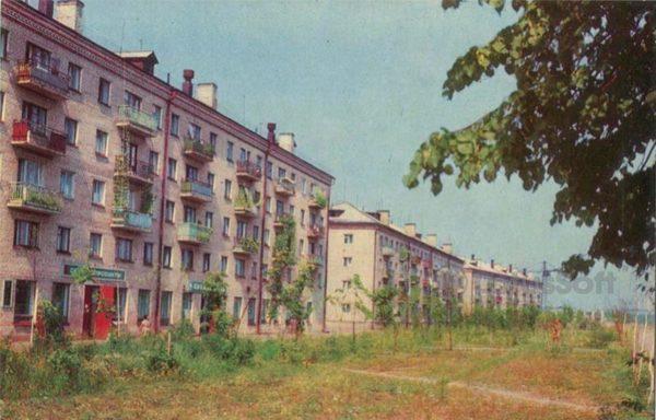 Новый жилой квартал. Углич, 1974 год