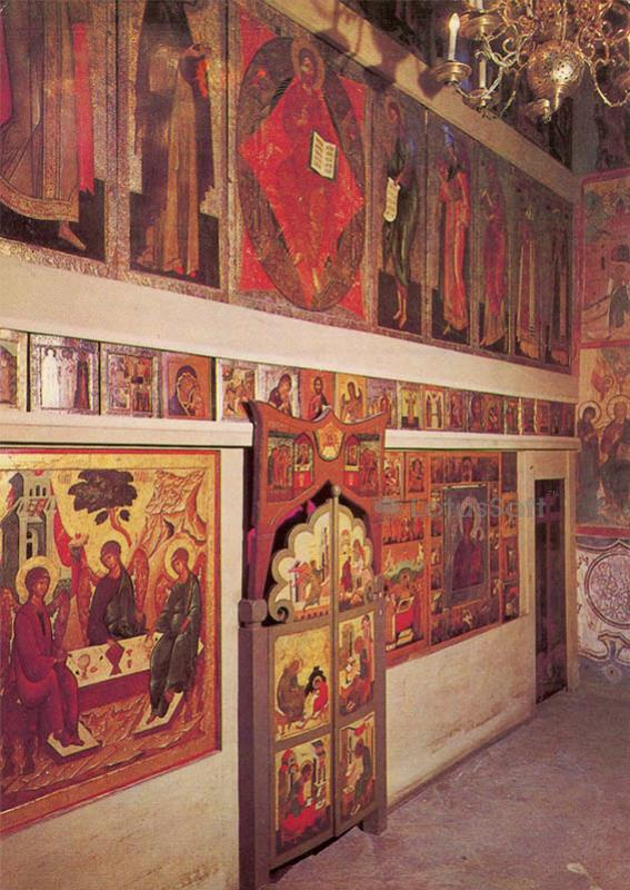 The iconostasis of the Deposition of the Robe of the church, 1985