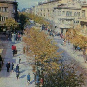 Улица Вильняус. Шауляй, 1973 год