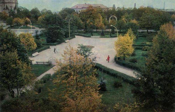 Площадь победы. Шауляй, 1973 год