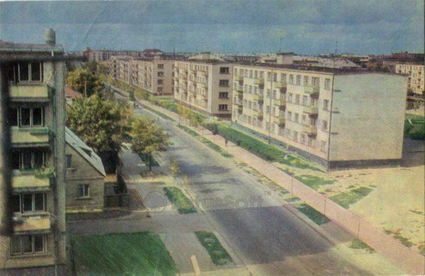 Улица Витаутаса. Шауляй, 1973 год
