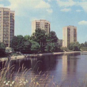Новые жилые дома на Югле. Рига, 1981 год