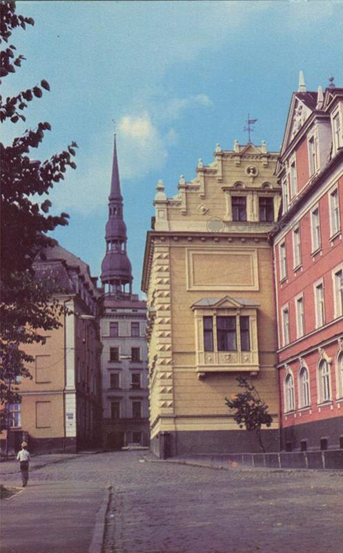 Улица Вестурес в Старой Риге, 1981 год
