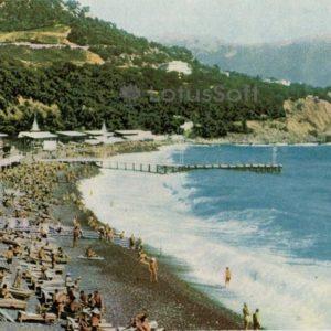 Ялта. Золотой пляж, 1966 год