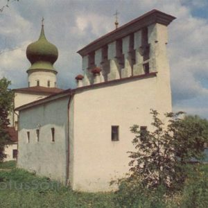 Belfry Church of the Assumption at the Ferry XV-XVI century. Pskov, 1969