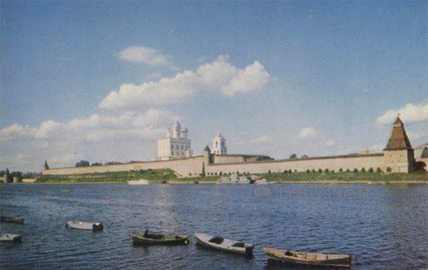 Общий вид Кремля. Псков, 1969 год