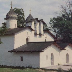 Double Church of the Nativity and the Intercession in the Corner. XIV-XVI century. Pskov, 1969