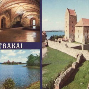 The ensemble of the castle on the island, XV c). Trakai, 1981