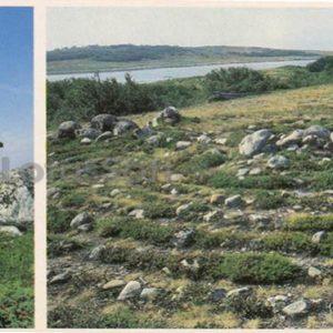 Church of St. Andrew on Hare Island. Labyrinth Zayatsky Islands, 1986