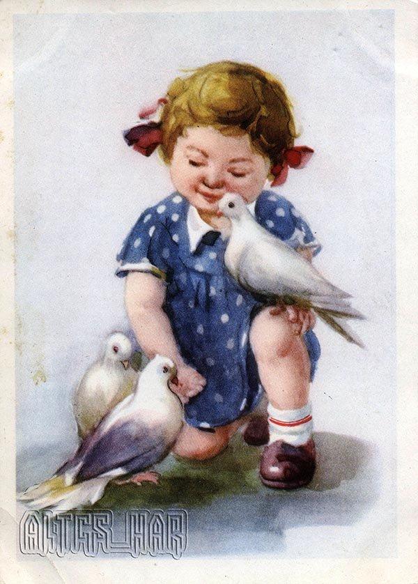 Открытки для детей. Друзья, 1957 год
