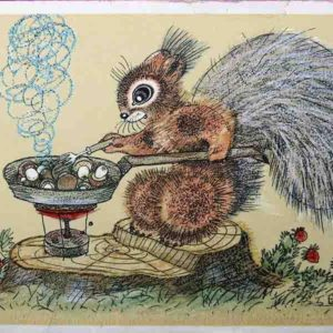 Cards for children. Gourmet, 1967