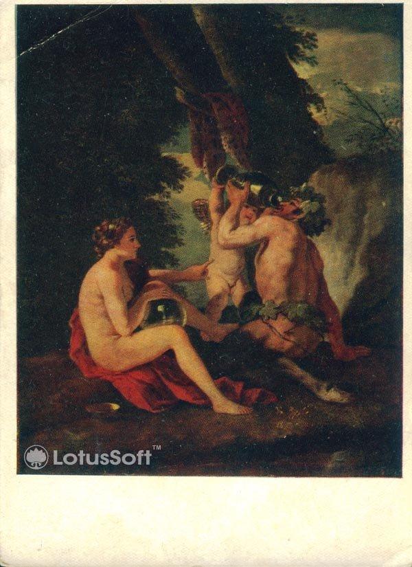 Сатир и Нимфа. Пуссен, 1956 год