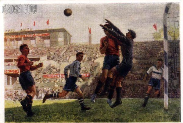 Футболисты худ.С.Луппов, 1950 год