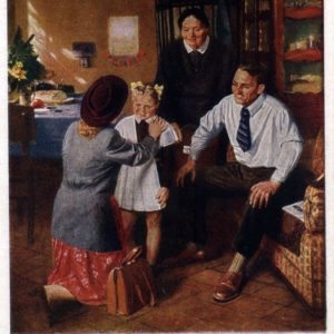 Первый раз в первый класс худ.А.Китаев, 1952 год