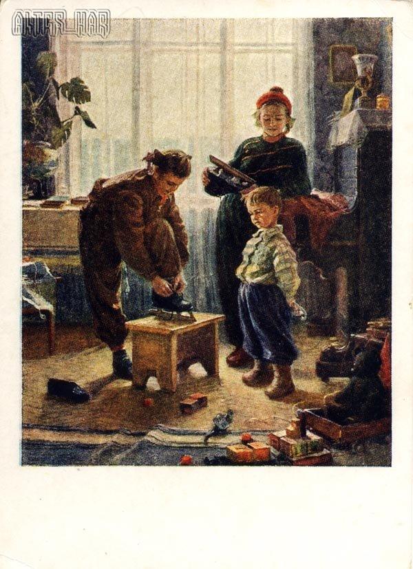 Зима пришла худ.В.Жолток, 1955 год