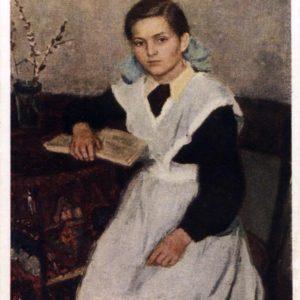 Schoolgirl Xenia hud.V.nechitaylo, 1956