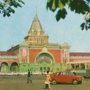 Железнодорожный вокзал. Чернигов, 1978 год