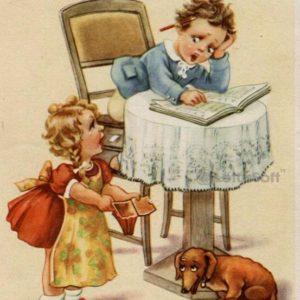 Children postcard, 1952